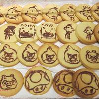 Chocolate painted cookies