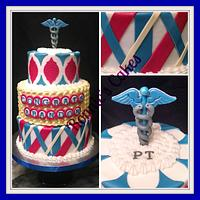 KU graduation cake