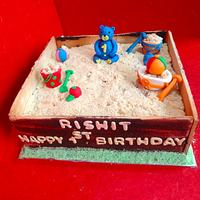Sand Pit Cake by KnKBakingCo