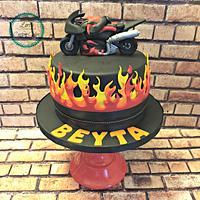 Motorcycle cake :)