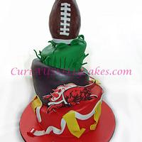 Bloomingdale Bulls girls flag football cake