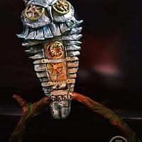 Caker Buddies Metallics Theme Collaboration - Owl of Athena