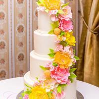 Peony wedding cake!