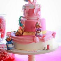 Cinderella Cake with Sugar Mice and Gravity Defying Birds