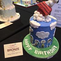 A Peanuts/Snoopy themed Cake