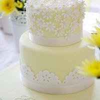 Spring Inspired Christening cake