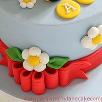 Bumble Bee 1st Birthday Cake by Strawberry Lane Cake Company