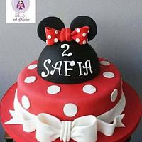 Minnie mousse cake