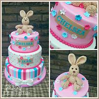 Fluffy Bunny Birthday Cake