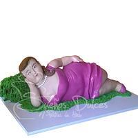 Beautiful fat woman