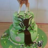 Bambi Theme 21st Birthday Cake