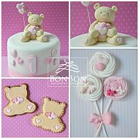 Girl bear cake and Co.