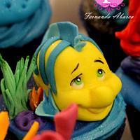 Little Mermaid Cupcakes  by Fernanda Abarca