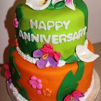 Hawaiian Anniversary cake