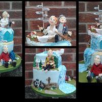 Great outdoors Wedding cake
