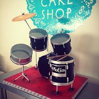 Standing Drum Kit Cake