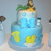 Monkey Time Baby Shower Cake