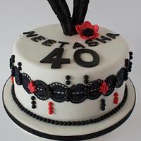 1920s Theme Birthday Cake