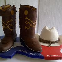 Cowboy Boots and Stetson Cake
