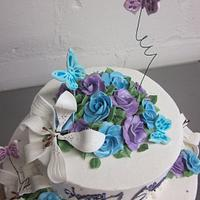 Sweet 16 Butterflies & Roses by Steel Penny Cakes, Elysia Smith