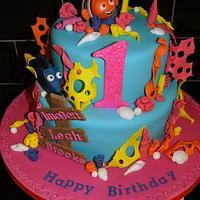 Finding Nemo 1st Birthday Cake