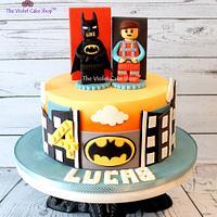 LEGO MOVIE Cake with Batman & Emmet