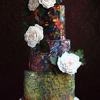 TIE-DYE& CRACKLE VINTAGE CAKE