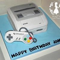 Super Nintendo Birthday Cake