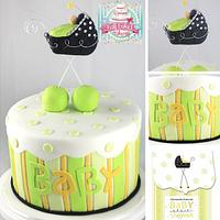 Stroller fun baby shower cake