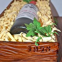 Wine crate cake by Carol