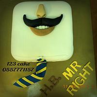 Mustache cake  by Hiyam Smady