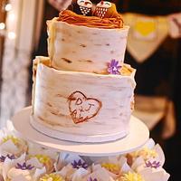 """Owl Love You Always"" Wedding Cupcake Tower"