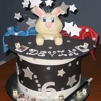 Magic Rabbit Hat Birthday Party Cake