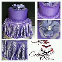 Purple & Silver Rose by Cake Creations by Trish