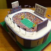 Holy Week Stadium Cake