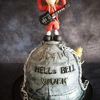 AC-DC themed cake by Savitha Alexander