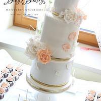 """""""White & Salmon Weddingcake"""""""