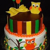 Owl Shower cake