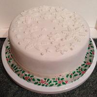 Luxury Christmas Snowflake Cakes by Kelly Castledine - Kelly's Cakes & Tasty Bakes