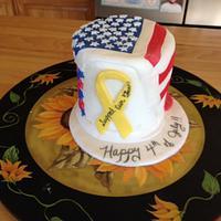 Happy 4th Dummy cake
