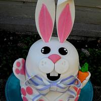 3D easter bunny cake (cheeky monkey cakes) by cheeky monkey cakes