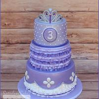 Sofia the 1st Cake