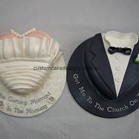 Bride and Groom Pre Wedding Cake