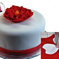 Gumpaste Peony Cake