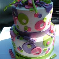 Buttercream and polka dots