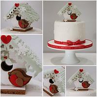 Beach Hut Gingerbread Christmas Cake