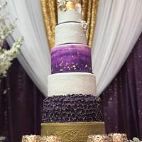 Shades of Ultra Violet Wedding Cake