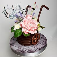 Flowersbox cake