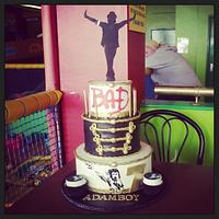 Adamboy's 3 tier Michael Jackson birthday cake by Dee