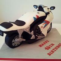 3D Motorbike Birthday Cake by Sarah Poole